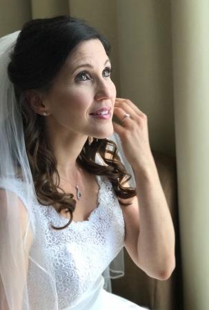 Rhonda, the stunning bride.